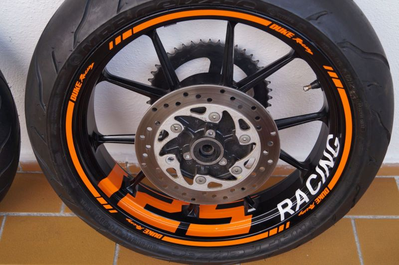 Wheel sticker KTM Duke 125 Orange Felgenaufkleber Felgenrandaufkleber