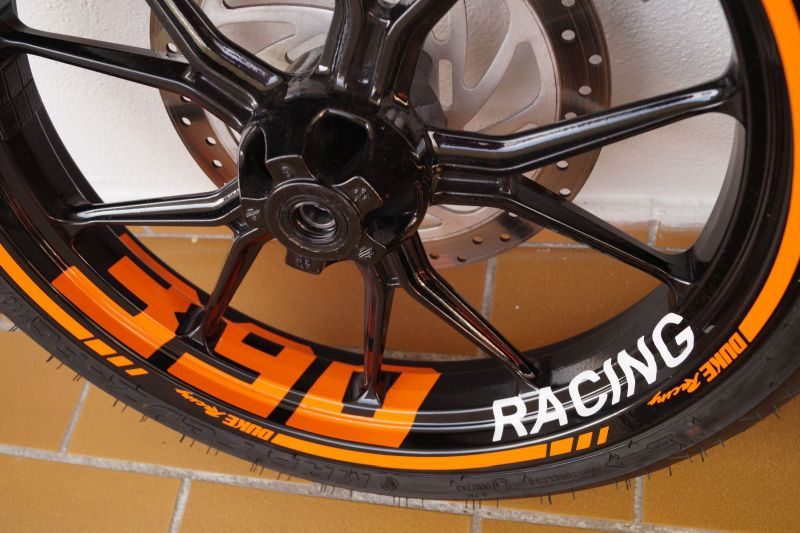 Wheel sticker KTM Duke 390 Orange