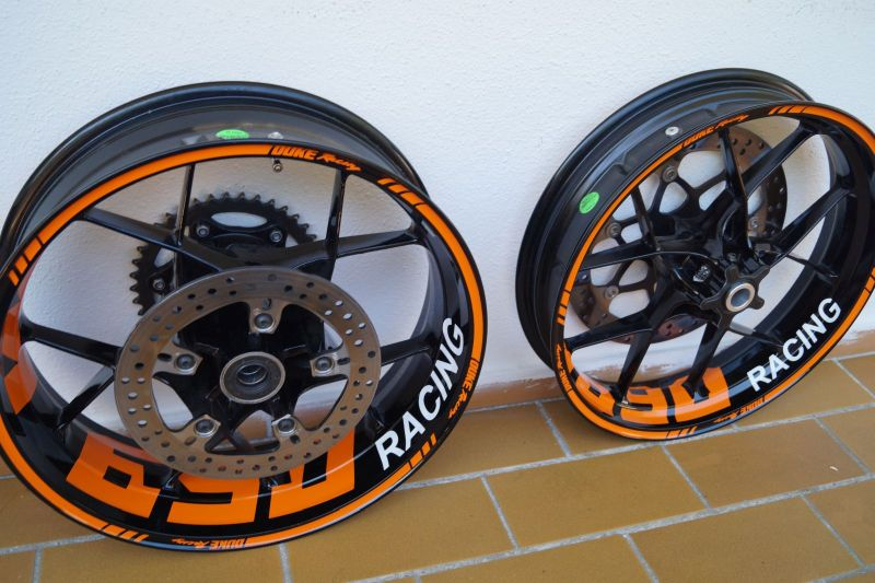 Wheel sticker KTM Duke 690 Orange Felgenaufkleber Felgenrandaufkleber