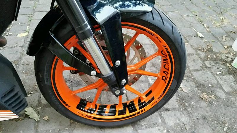 Wheel sticker KTM Duke Orange Black Front Felgenaufkleber Felgenrandaufkleber