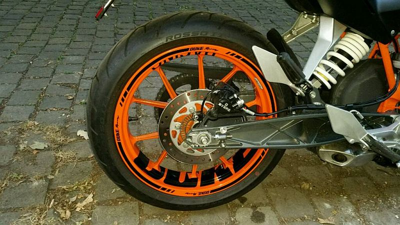 Wheel sticker KTM Duke Orange Black Felgenaufkleber Felgenrandaufkleber