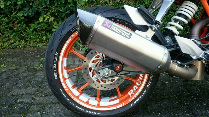 Wheel sticker KTM Duke 10 Spokes Orange White Felgenaufkleber Felgenrandaufkleber