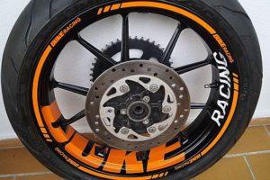 Wheelsticker KTM Duke 10 Spokes Felgenaufkleber Felgenrandaufkleber