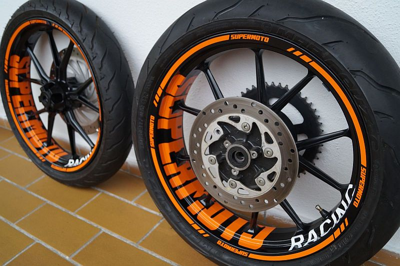 Wheel sticker KTM Duke 10 Spokes Orange Felgenaufkleber Felgenrandaufkleber
