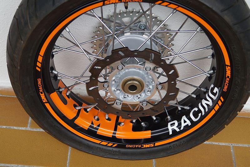 Felgenaufkleber Felgenrandaufkleber Wheelsticker Supermoto KTM SMC