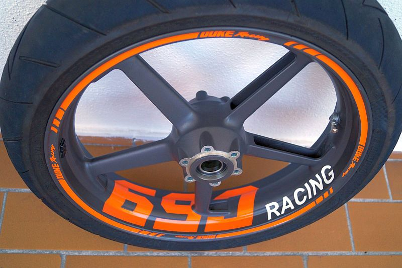 Wheelsticker KTM Duke 690 Orange