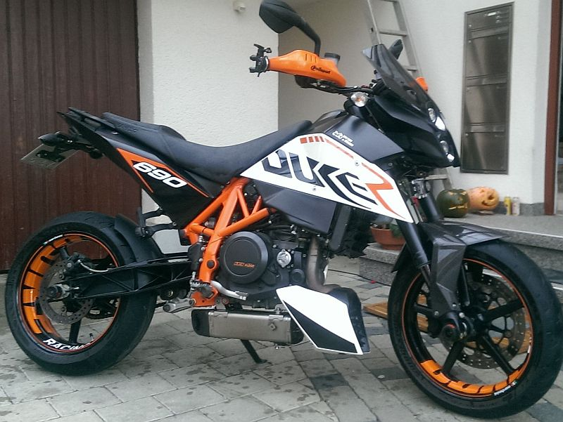 Wheelsticker KTM Duke 690 Motorcycle Orange