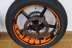 Wheelsticker KTM Duke 5 Spokes Felgenaufkleber Felgenrandaufkleber