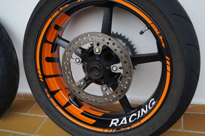 Wheelsticker KTM Duke Orange 5 Spokes