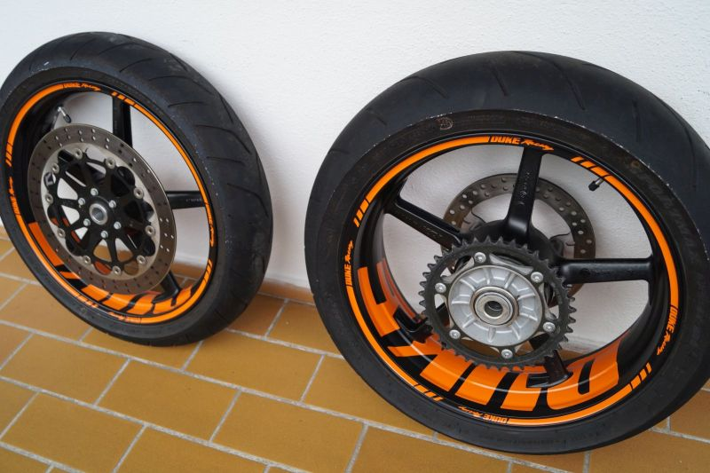 Wheelsticker KTM Duke Orange