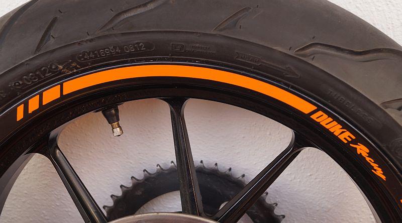 Wheel Striping Stickers KTM Duke