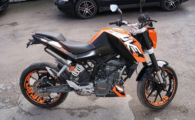"KTM Duke 125 - orange ""SUPERMOTO"" design"