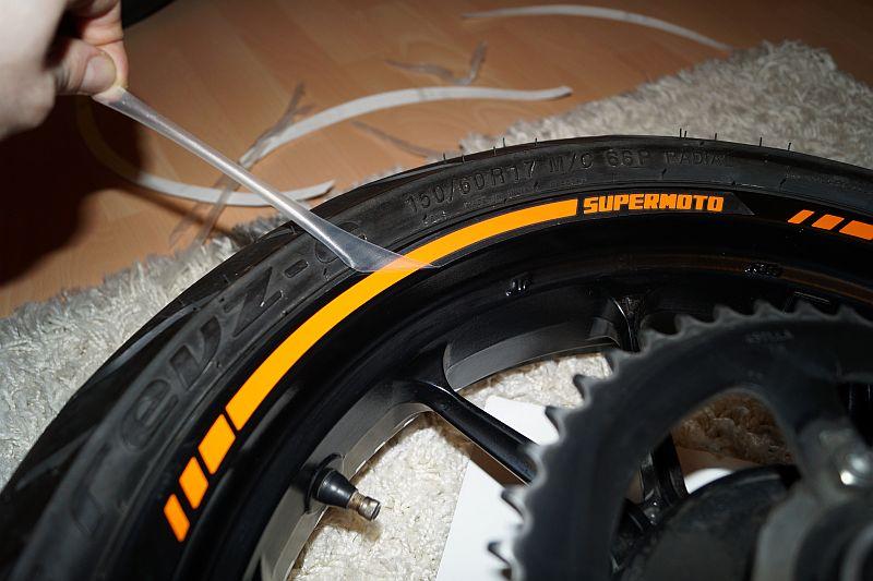 Wheel Striping Stickers KTM Duke Supermoto
