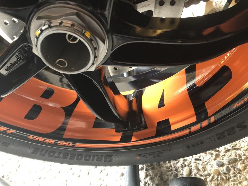 Felgenaufkleber Felgenrandaufkleber Wheel Sticker KTM 1290 2020 BEAST Orange